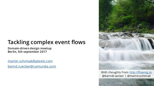 Tackling complex event flows Domain-driven design meetup Berlin, 5th september 2017 martin.schimak@plexiti.com bernd.rueck...