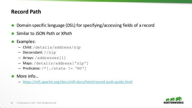 Apache NiFi Record Processing