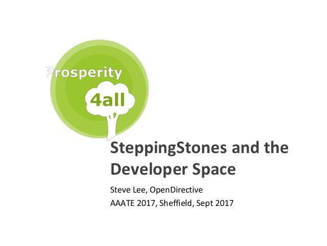 1 SteppingStones and the Developer Space Steve Lee, OpenDirective AAATE 2017, Sheffield, Sept 2017