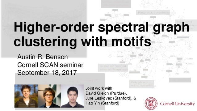Higher-order spectral graph clustering with motifs Austin R. Benson Cornell SCAN seminar September 18, 2017 Joint work wit...