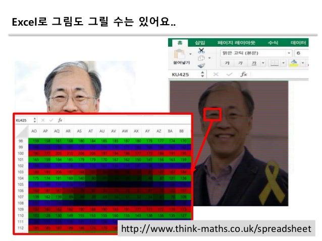 http://www.think-maths.co.uk/spreadsheet Excel로 그림도 그릴 수는 있어요..