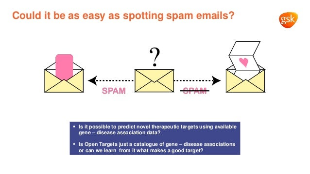 Could it be as easy as spotting spam emails? ▪ Is it possible to predict novel therapeutic targets using available gene – ...