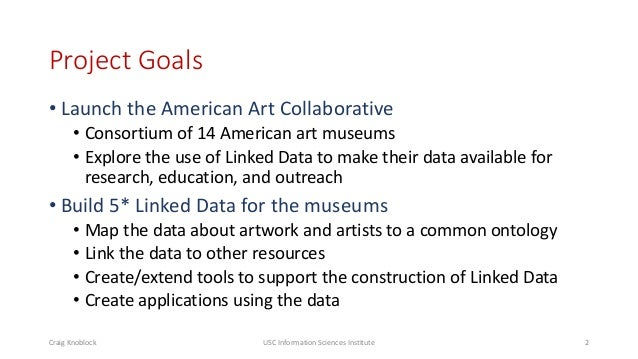 Lessons Learned in Building Linked Data for the American Art Collaborative Slide 2