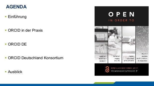 ORCID DE – Autorenidentifikation, Publikationsmanagement und Open Science Slide 2