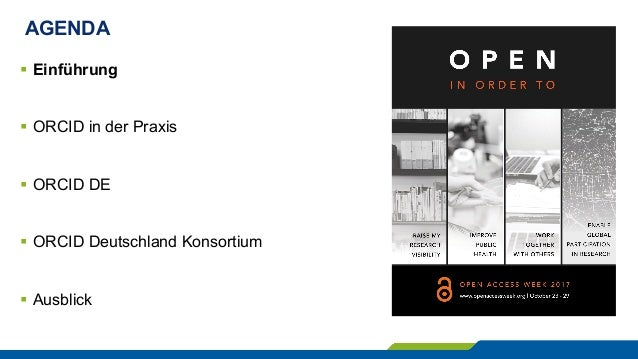 ORCID DE – Autorenidentifikation, Publikationsmanagement und Open Science Slide 3