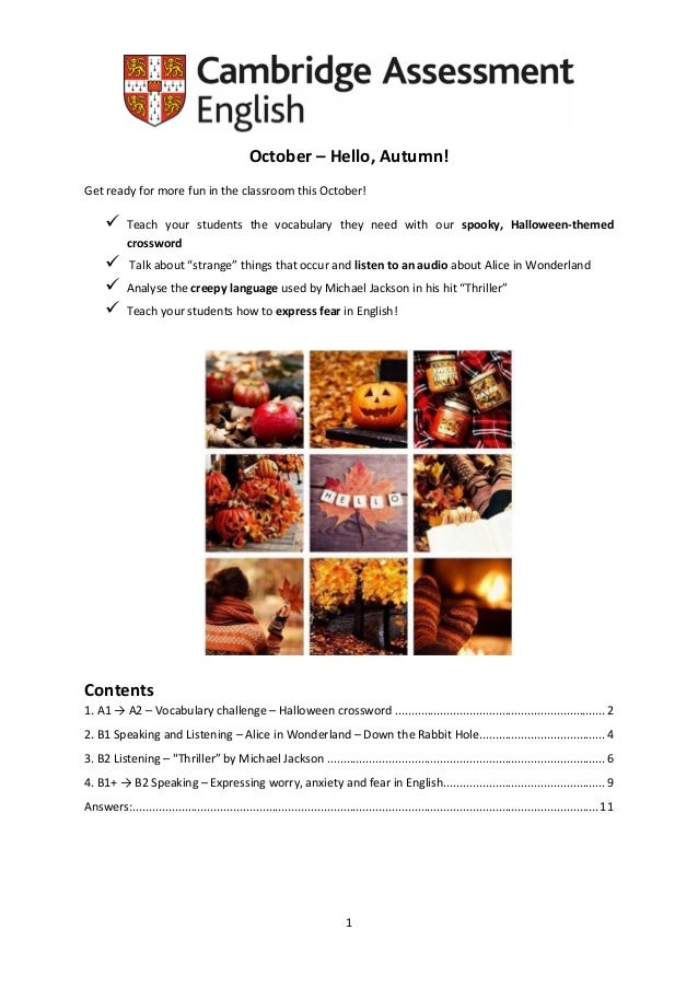 1 October U2013 Hello, Autumn! Get Ready For More Fun In The Classroom This ...