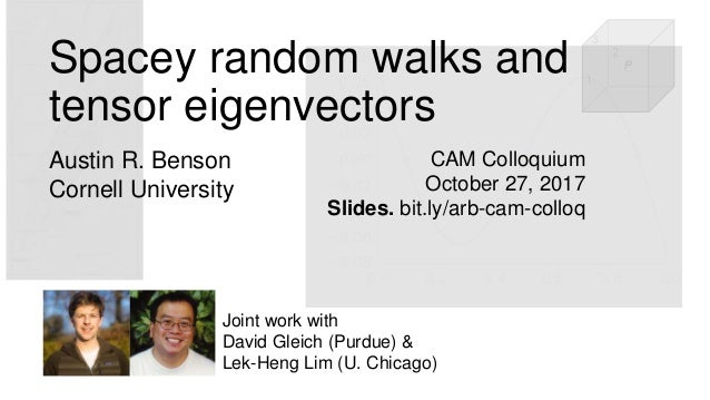 CAM Colloquium October 27, 2017 Slides. bit.ly/arb-cam-colloq Joint work with David Gleich (Purdue) & Lek-Heng Lim (U. Chi...