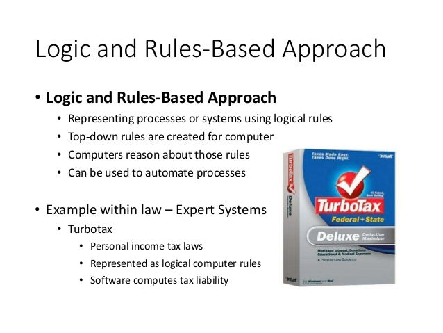 Logic and Rules-Based Approach • Logic and Rules-Based Approach • Representing processes or systems using logical rules • ...