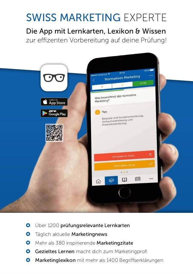 SWISS MARKETING EXPERTE Die App mit Lernkarten, Lexikon & Wissen zur effizenten Vorbereitung auf deine Pr�fung!  �ber 120...