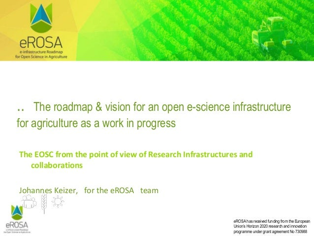 eROSA has received funding from the European Union's Horizon 2020 research and innovation programme under grant agreement ...