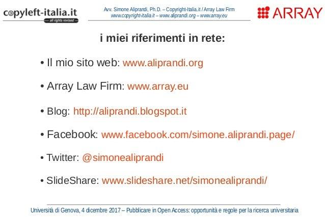Come gestire i diritti per fare Open Access (Genova, dic. 2017) Slide 2