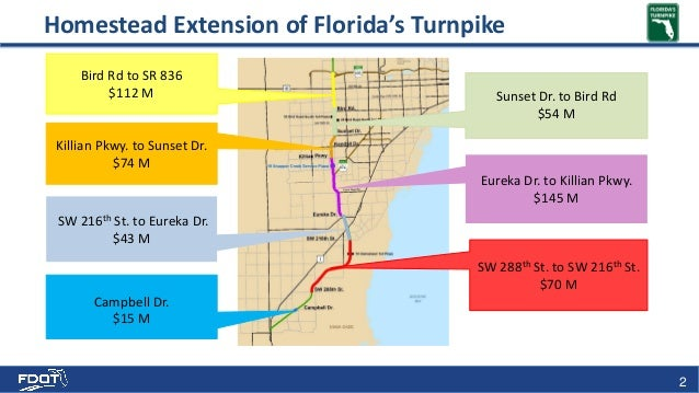 Turnpike Florida Map.Florida S Turnpike Enterprise Fte Construction Projects Update