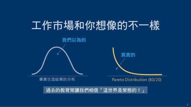 8 我們以為的 真實的 Pareto Distribution (80/20)