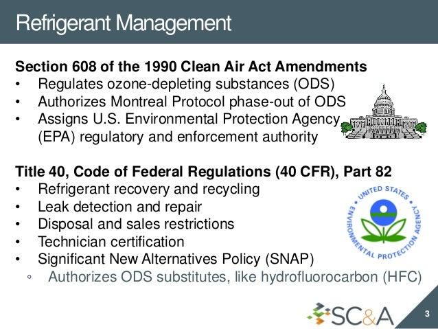 2018 New EPA Refrigerant Management Requirements