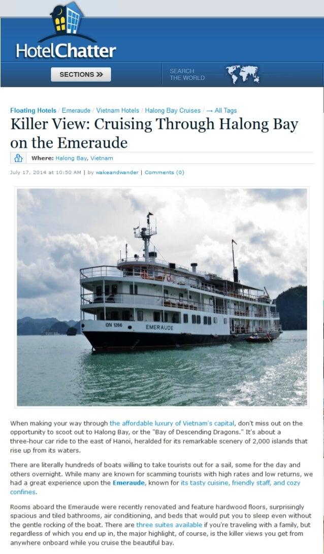 Hotel Charter - Killer View: Cruising Through Halong Bay on the Emeraude