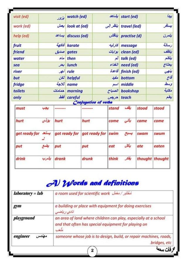 مذكرة لغة انجليزية للصف الثانى الإعدادى الترم الأول 2017 - موقع ملزمتي Slide 3