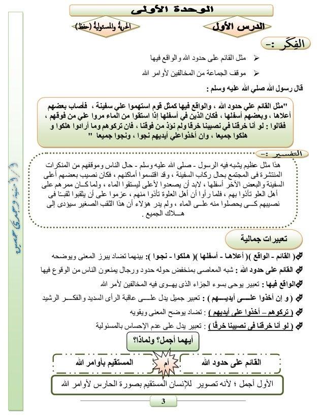 بوكلت شرح منهج اللغة العربية للصف السادس الابتدائى 2017 بالتعديل الجديد للترم الثانى أمنية وجدى Slide 3