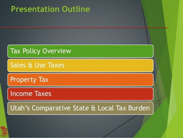 state and local tax outline