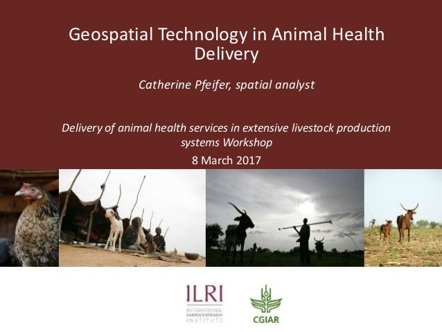 Geospatial Technology in Animal Health Delivery Catherine Pfeifer, spatial analyst Delivery of animal health services in e...