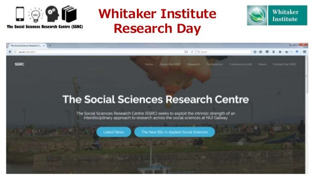 Whitaker Institute Research Day