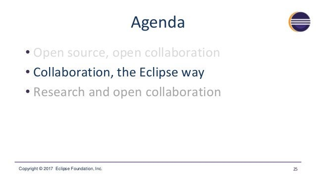 Copyright © 2017 Eclipse Foundation, Inc. A Brief History of Eclipse ▪ Launched by IBM in 2001 –Initial release of the Ecl...