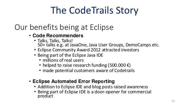 Copyright © 2017 Eclipse Foundation, Inc. Eclipse as a Research Catalyst 55