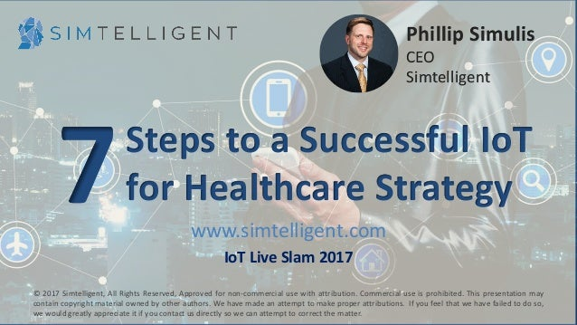 www.simtelligent.com IoT Live Slam 2017 © 2017 Simtelligent, All Rights Reserved, Approved for non-commercial use with att...