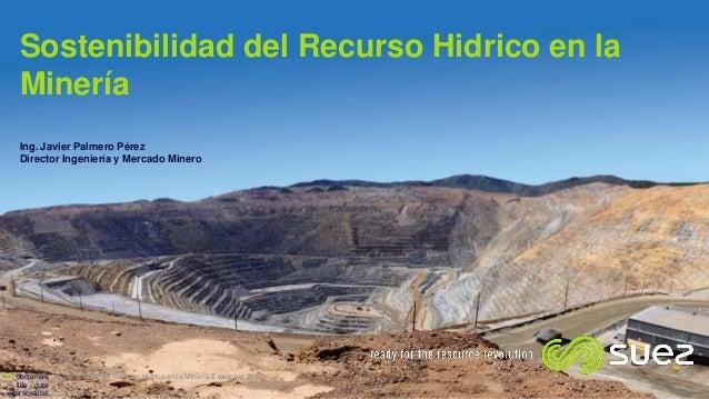 Sostenibilidad del Recurso Hidrico en la Minería Ing. Javier Palmero Pérez Director Ingeniería y Mercado Minero Sostenibil...
