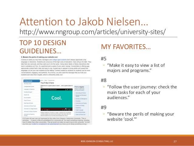 Jakob Nielsen Website Design Guidelines