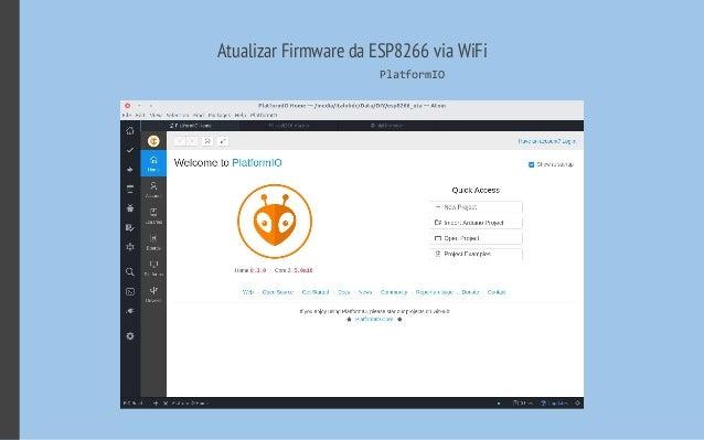 Atualizar Firmware da ESP8266 via WiFi PlatformIO