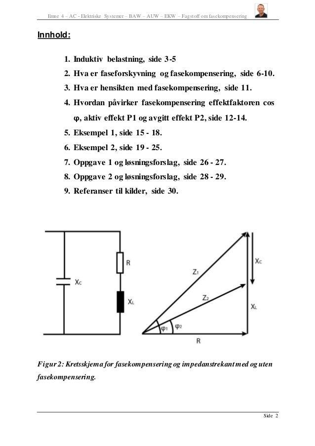 fasekompensering formler