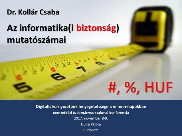 Digitális környezetünk fenyegetettsége a mindennapokban nemzetközi tudományos-szakmai konferencia 2017. november 8-9. Duna...