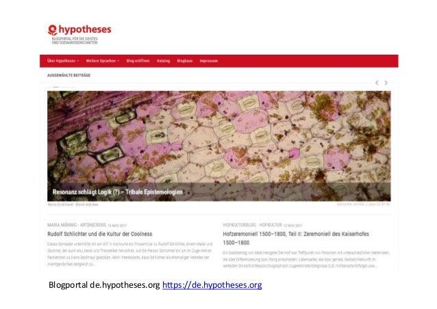 • BlogsüberQuellenundMethoden • BlogseinerwissenschaftlichenEinrichtung • Fotoblogs • ArchäologischeAusgrabungsblo...