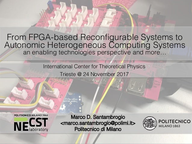From Fpga Based Reconfigurable Systems To Autonomic Heterogeneous Com
