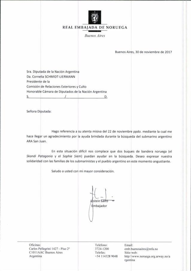 2017.11.29 diputada schmidt liermann. carta de agradecimiento buque ara san juan