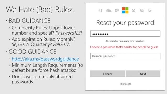 microsoft account password requirements 2017