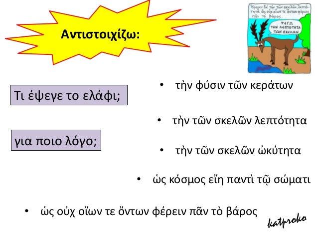 Θεωρείτε το μάκθμα τθσ αρχαίασ ελλθνικισ γλϊςςασ δφςκολο; Όταν διαβάηετε ζνα κείμενο του βιβλίου ςασ ςτα αρχαία ελλθνικά κ...