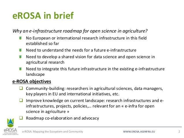 GODAN Data Ecosystem Working Group - The e-ROSA project Slide 2