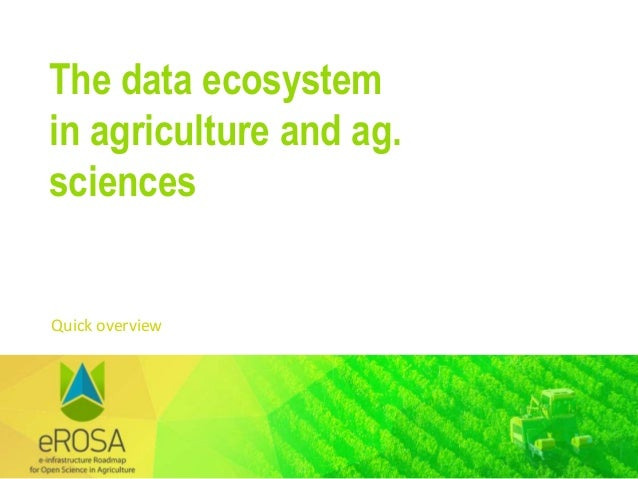 4th RDA Europe Science Workshop - The e-ROSA project Slide 3