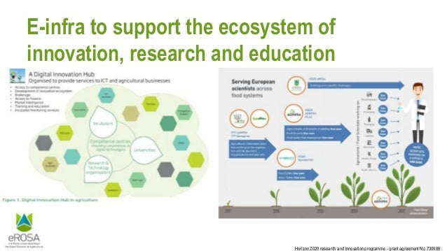 Horizon 2020 research and innovation programme - grant agreement No 730988 E-infra to support the ecosystem of innovation,...
