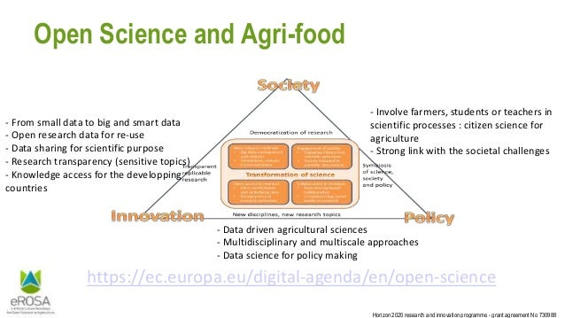 Horizon 2020 research and innovation programme - grant agreement No 730988 Open Science and Agri-food https://ec.europa.eu...