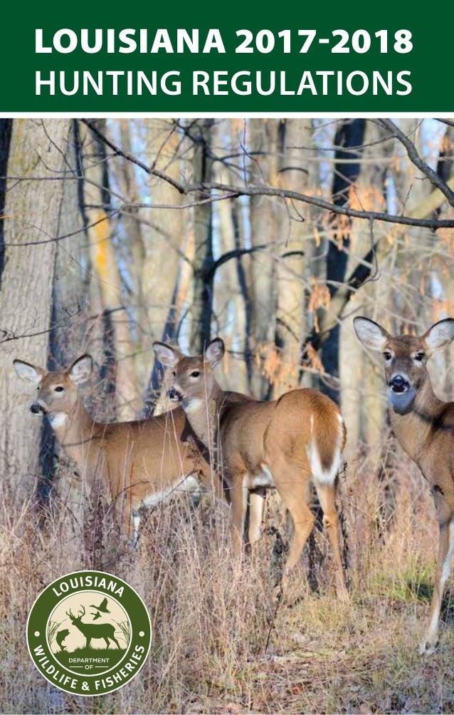 2017 2018 Ldwf Hunting Regulations