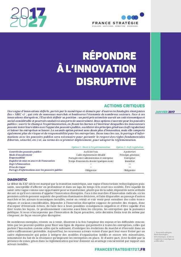 Une vague d'innovations déferle, portée par le numérique et demain par d'autres technologies émergentes (les « NBIC »)[1] ...