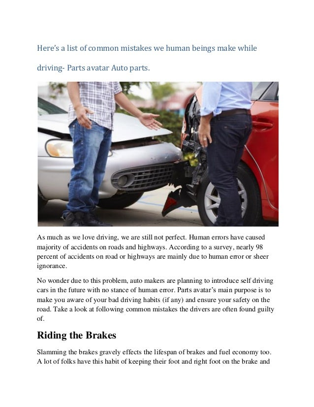 Parts Avatar- Driving tips- take a look at most common ...