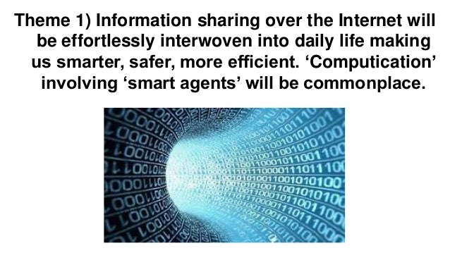 Theme 2) Artificial intelligence, augmented reality, wearable devices, and big data will make people more aware of their w...