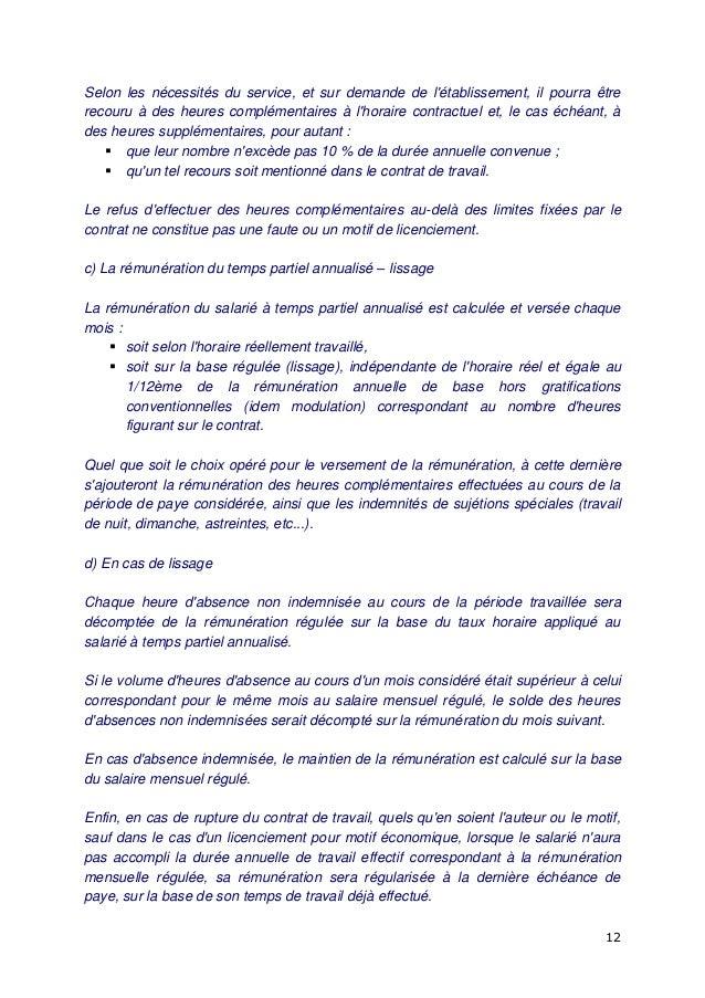 Idcc 1536 Avenant Duree De Travail