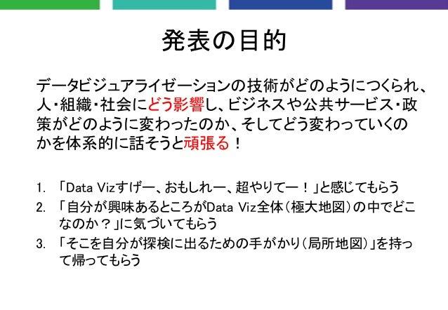 人・組織・社会を動かすデータビジュアライゼーション Slide 2