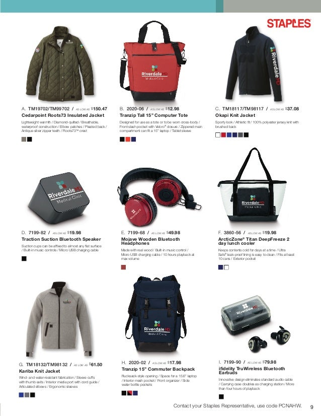 Staples Promotional Products Healthcare Ideas