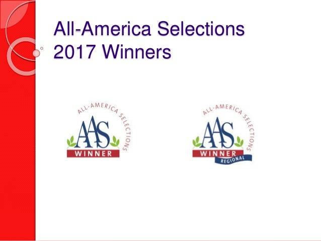All-America Selections 2017 Winners