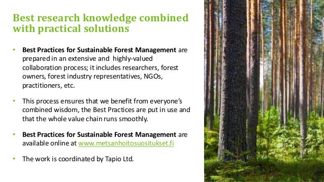 Best practices for sustainable forest management in finland